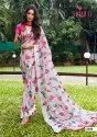 Casual Wear Traditional Linen Digital Printed Saree