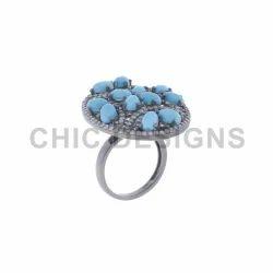 Diamond Gemstone Cocktail Ring