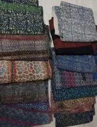 Block Print Indigo Kantha Quilts
