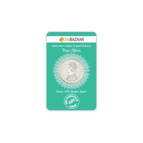 Victoria Queen Silver Coin Of 5 Gram In 999 Purity