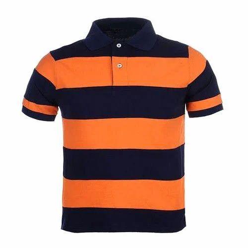 99e22cdd6 Cotton Striped Mens Collar T Shirt, Rs 350 /piece, Gokak Textiles ...