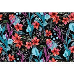 100% Polyester Poly Crepe Fabric Printing Service