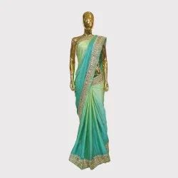 Sea Green Designer Silk Saree
