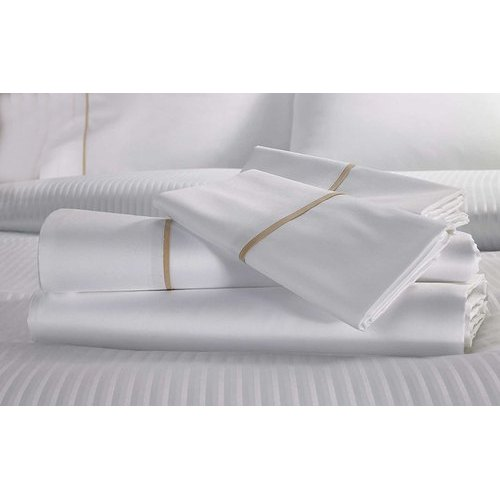 White Fancy Cotton Double Bed Sheet