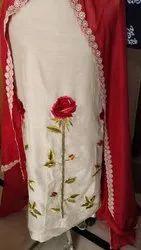 Muttiyaar selection Unstitched Ladies silk suit, Dry clean