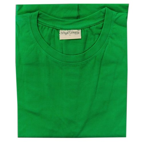 fd019cf21 Cotton Plain Mens Green Round Neck Polo T Shirt, Packaging Type: Packet