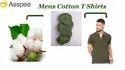 Mens Olive Green Collar T Shirts
