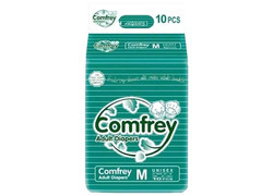 Comfrey Adult Diapers Medium For Waist Size 30-45 Inches