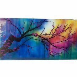 Multicolor Saint Gobain Printed Glass
