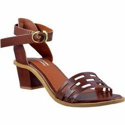 Supreme Leather Women Tan Heels