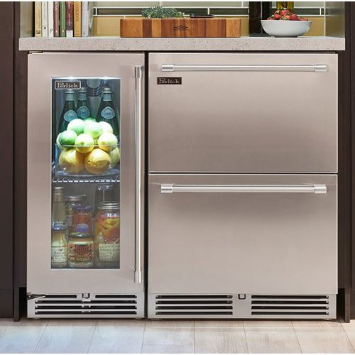 Stainless Steel and Glass Under Counter Refrigerator, Capacity: 8.0 Cu.ft, for Industrial