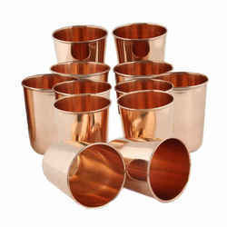 Plain Pure Copper Glass