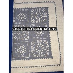 Cut Work Kantha Colored Bed Cover
