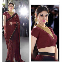Maroon Party Wear Saree