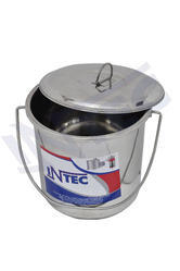 INTEC - Stainless Steel Milk / water Bucket with lid 7 ltr , 10 Ltr , 15 ltr , 20 ltr