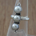 Pearl Gemstone 925 Sterling Silver Jewelry Ring