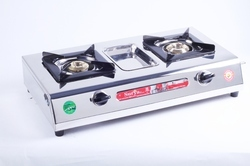 Surya Care 2 Burner Stainless Steel Gas Stove