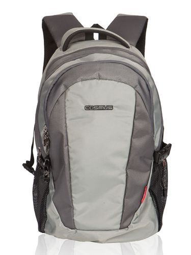 Cosmus Polyester Light Grey Forbes Zipper Laptop Backpack, Dimension: 13.00 x 18.50 x 9.00 [WxHxD] in inches
