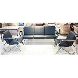 Wooden Modern 5 Seater Office Sofa Set, Suitable Room: Living Room