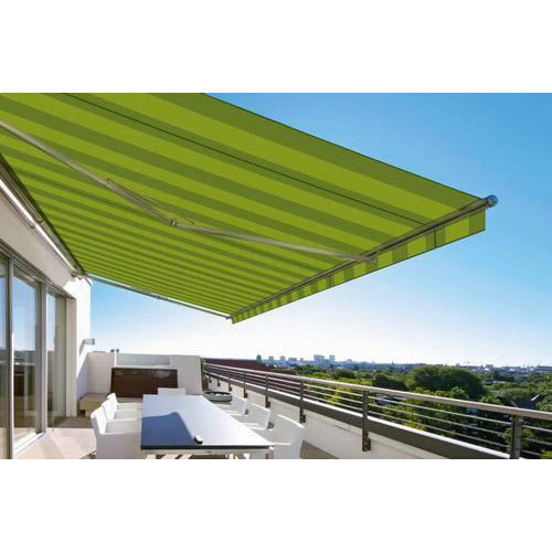 Polyster Plain Folding Window Awning