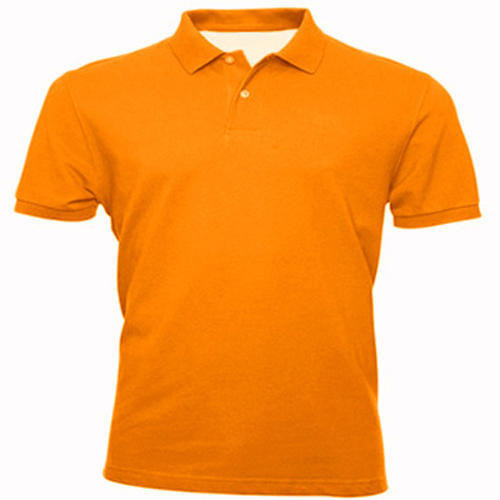 347ca69b Men's Orange Polo T-Shirt at Rs 350 /piece | Men Plain T Shirt | ID ...