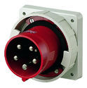 Prudentdevices Red Mennekes 125amp 5pin Inlet, Telecom/data/network