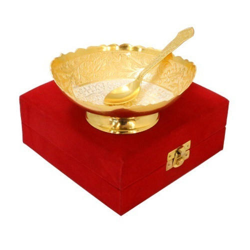 Brass Bowl, Packaging Type: Box, for Gift