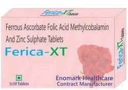 Ferrous Ascorbate Folic Acid Methylcobalamin With Zinc Tablets