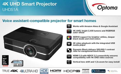 Optoma Projector : UHD 51, Office Automation Products & Devices