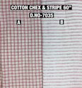 Cotton Chex & Stripes Print Fabric Collection