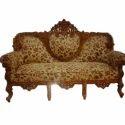 Multicolor Royal Wooden Carved Modern Sofa