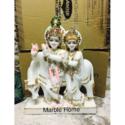 Marble White God Radha Krishna Statue