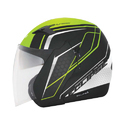 Polycarbonate Open Face Vega Graphics Helmet