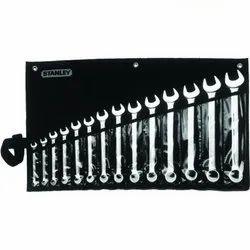 Chrome Vanadium Steel Stanley 1-87-709 14 Pieces Imperial Combination Slimline Spanner Set, Packaging: Bag