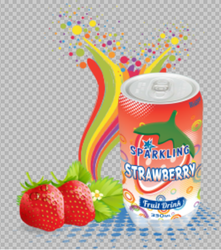Blue Vista Sparking Strawberry Fruit Drink, Packaging Type: Can, Packaging Size: 330 ml