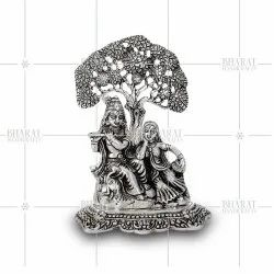 Silver Plated Radha Tree Statue
