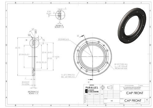 Production Drawing 2d 3d Drafting At Rs 100piece