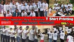 College Celebration Signature Day T Shirts Printing in dilsukhnagar,Hyderabad