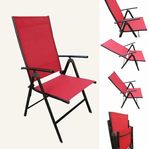 Pleasing Folding Reclining Chair 7 Stage Elegent 2 Fold Red Creativecarmelina Interior Chair Design Creativecarmelinacom