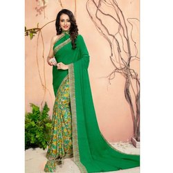 Party Wear Ladies Printed Designer Georgette Saree