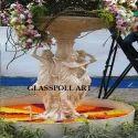 Multicolor Fiberglass Garden Fountain
