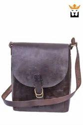 Square Leather Saddle Small Bag