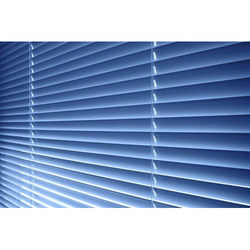 Blue Venetian Window Blind