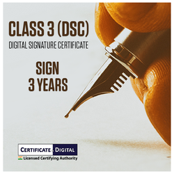 Class 3 Signing Digital Signature 3 Years