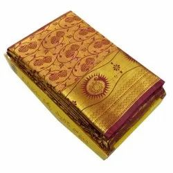 Lysha Ladies Pure Silk Saree, Packaging Type: Packet, 6.3 m( With Blouse)