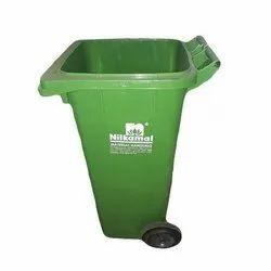 Blue Green Open Top Waste Bin, For Home outdoor Garden, Capacity: 60-110 Liters