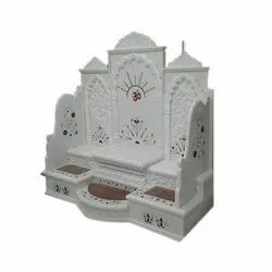Indoor Curved Marble Singhasan, For Home, Size: Customizable