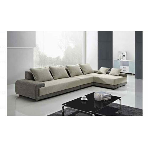 L Shape Cushion Back Modern Sofa Set