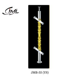 Yellow Acrylic Designer Glass Railing Baluster