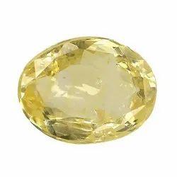 Oval - Cut Unheat Ceylon Yellow Sapphire